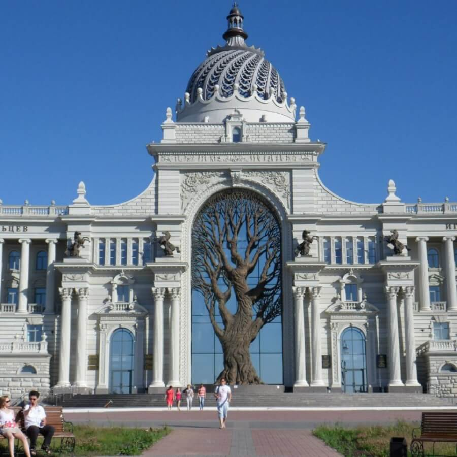 арка с деревом