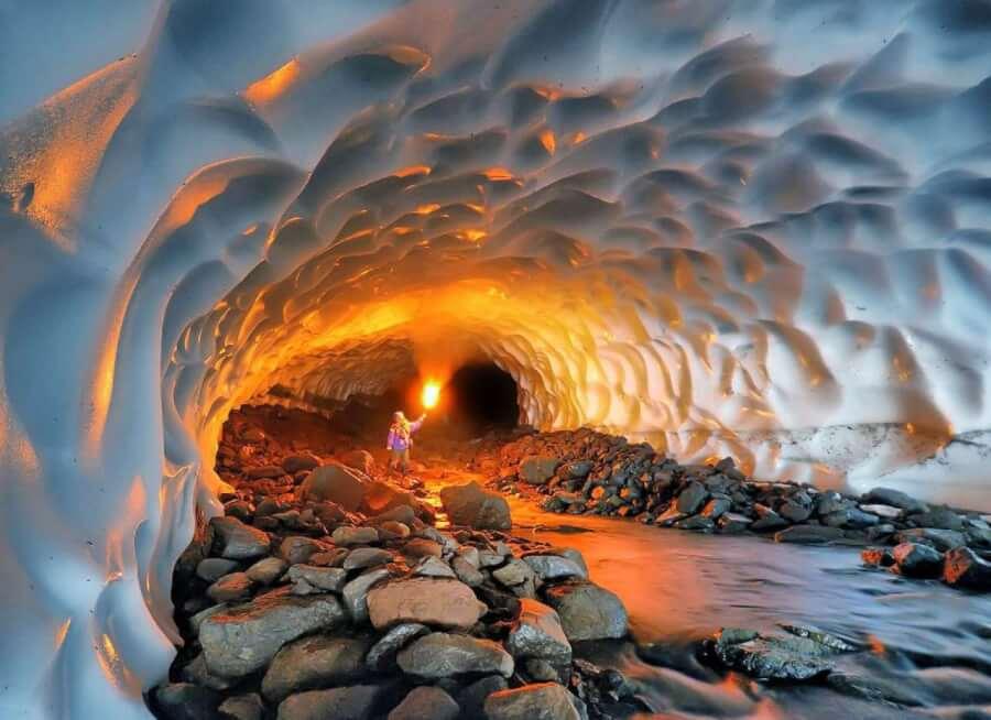 удивительные узоры пещеры