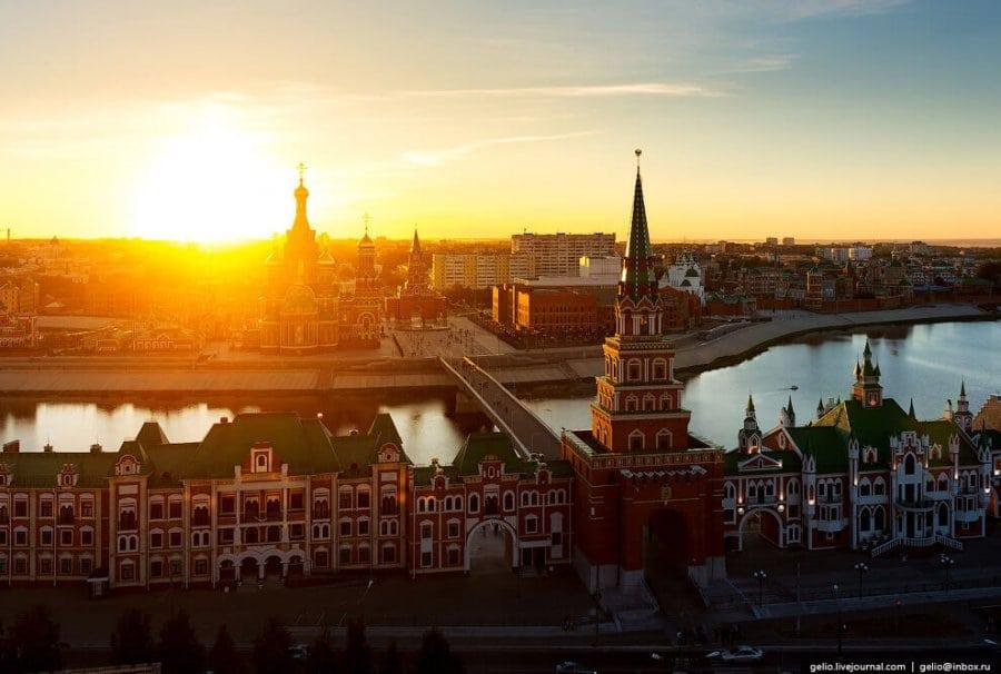 Вид на кремль сверху