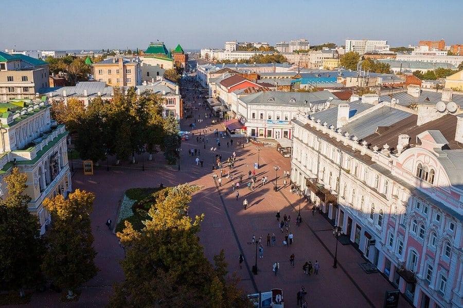 улицы Большая Покровская.Вид сверху