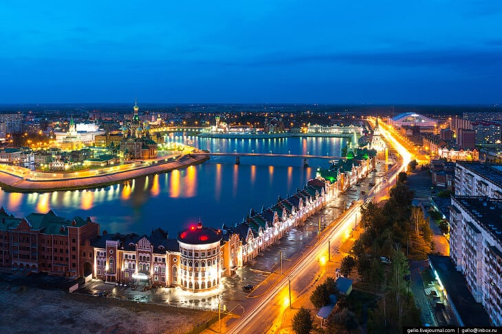 город в ночное время