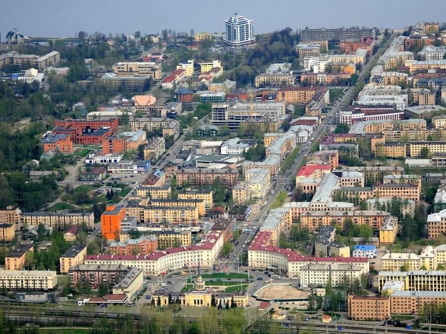 Петрозаводск, вид с высоты