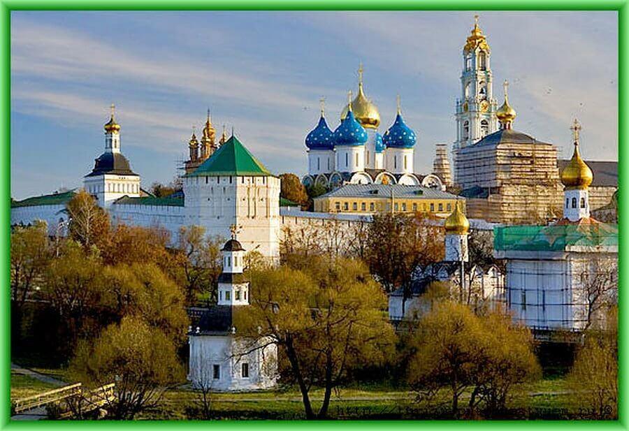 карта золтого кольца России