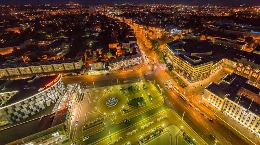 калининград ночью