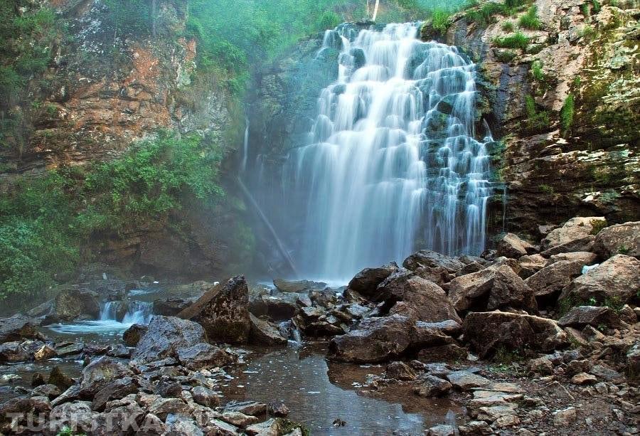 Денисова пещера и водопады Шинок