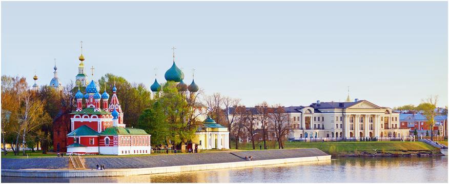 вид с реки Волга