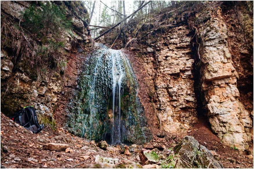 Береснятский водопад в Кировской области