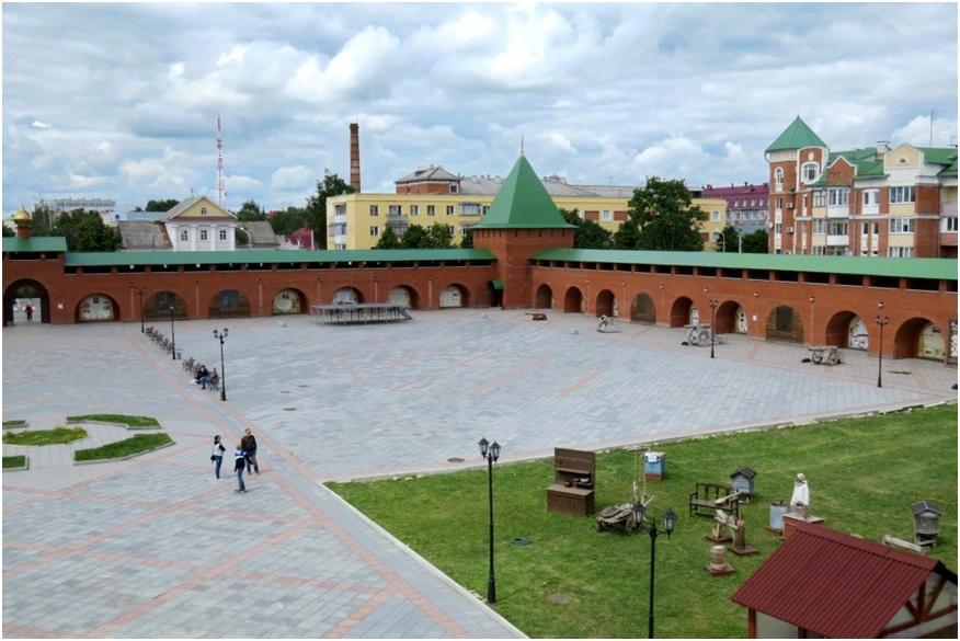 Царевококшайский Кремль, вид сверху